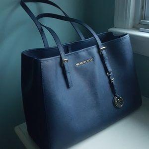 Navy blue Michael Kors bag